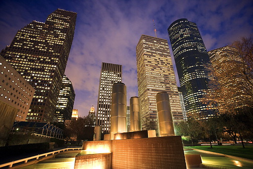 Houston Downtown at Night